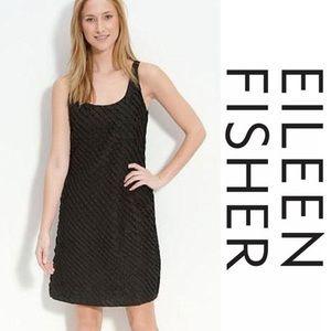 Eileen Fisher Silk Ruffled Tank Dress